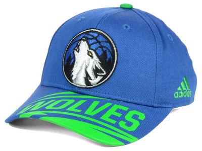 Minnesota Timberwolves adidas NBA Youth Layup Adjustable Cap