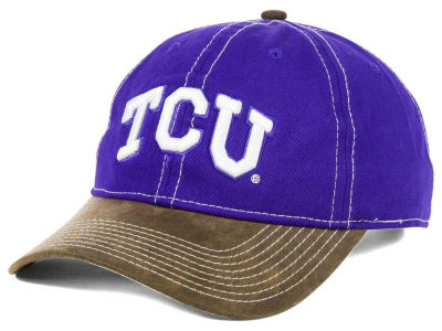 Texas Christian Horned Frogs NCAA Leather Goods Adjustable Cap