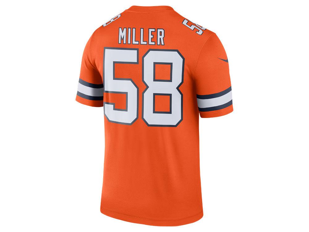 Denver Broncos Von Miller Nike NFL Men s Legend Color Rush Jersey ... d0f2eb63e