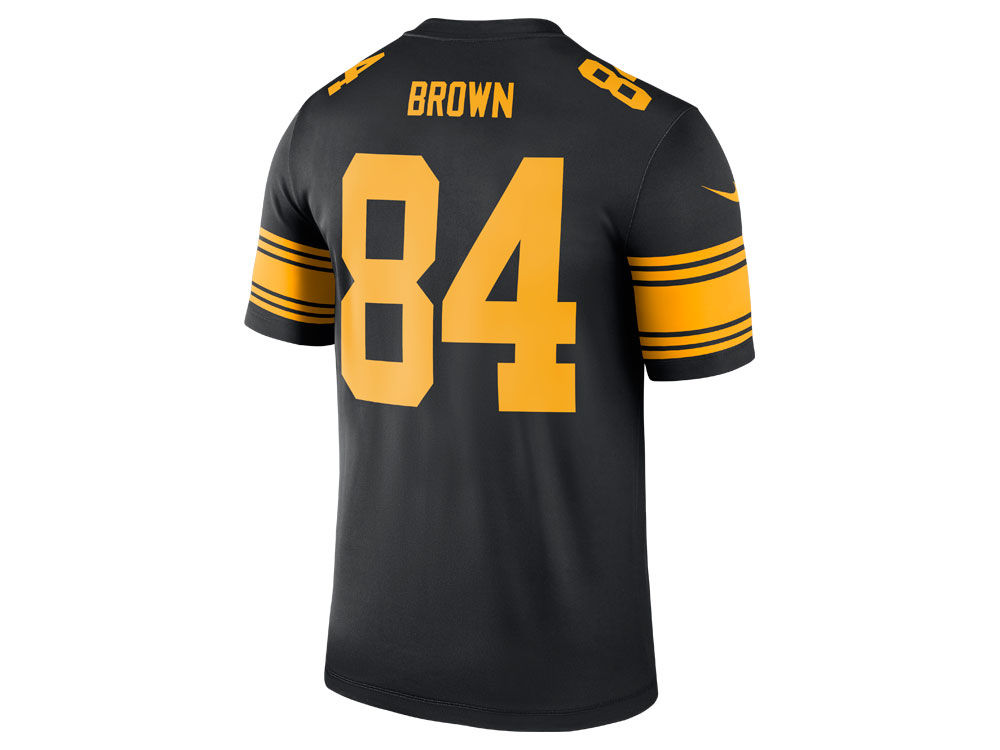 62a7134bbbc ... free shipping pittsburgh steelers antonio brown nike nfl mens legend color  rush jersey e5d91 73eaf