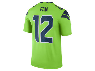 Seattle Seahawks Fan #12 Nike NFL Men's Legend Color Rush Jersey