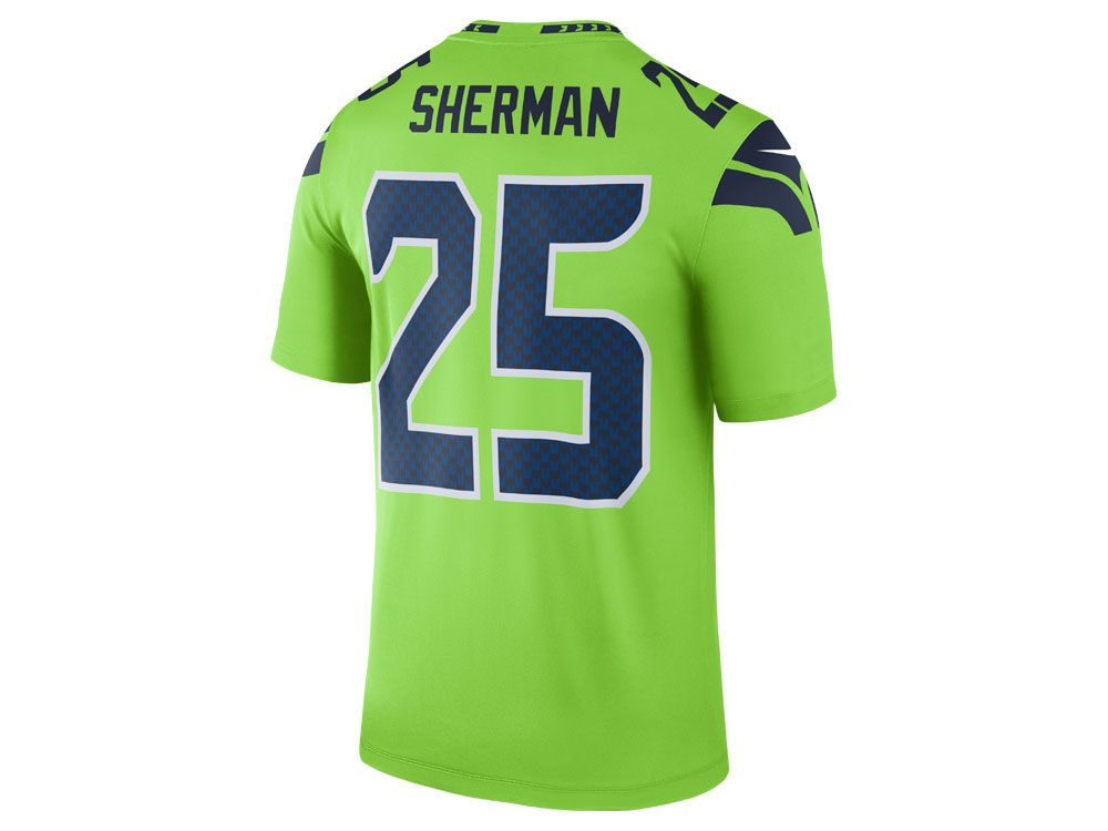 8d90129f7da Seattle Seahawks Richard Sherman Nike NFL Men's Legend Color Rush Jersey |  lids.com