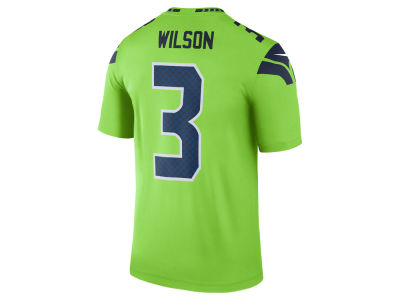 Seattle Seahawks Russell Wilson Nike NFL Men's Legend Color Rush Jersey