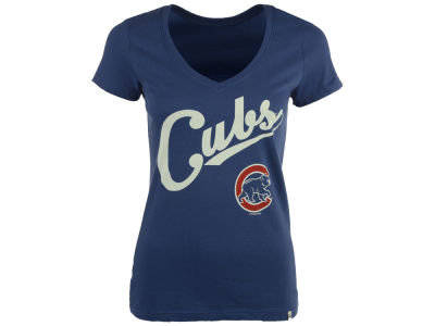 Chicago Cubs '47 MLB Women's Script V-Neck T-Shirt