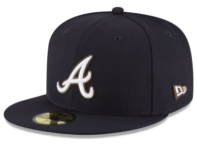 Atlanta Braves New Era MLB Classic Leather Outline 59FIFTY Cap