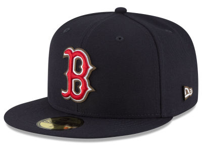 Boston Red Sox New Era MLB Classic Leather Out 59FIFTY Cap