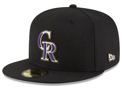 Colorado Rockies New Era MLB Classic Leather Outline 59FIFTY Cap