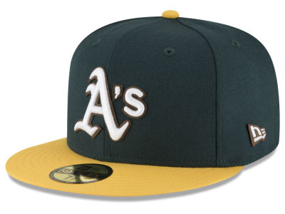 Oakland Athletics New Era MLB Classic Leather Outline 59FIFTY Cap