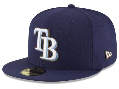 Tampa Bay Rays New Era MLB Classic Leather Outline 59FIFTY Cap