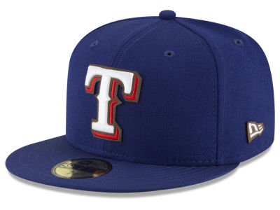 Texas Rangers New Era MLB Classic Leather Outline 59FIFTY Cap