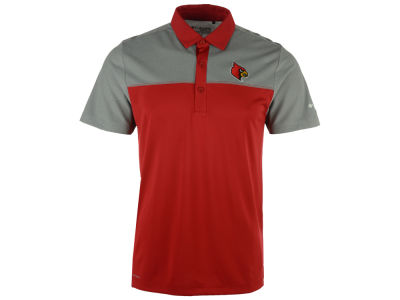 Louisville Cardinals Columbia NCAA Men's First Nine Polo Shirt
