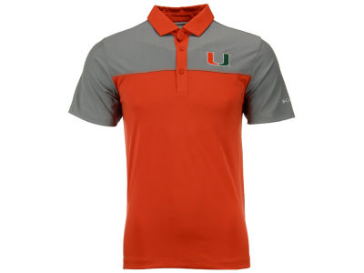 Miami Hurricanes Columbia NCAA Men's First Nine Polo Shirt