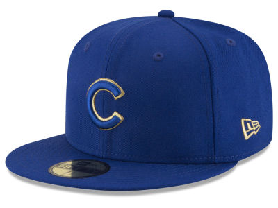 Chicago Cubs New Era MLB Team On Metallic 59FIFTY Cap