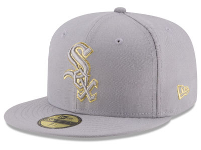 Chicago White Sox New Era MLB Team On Metallic 59FIFTY Cap