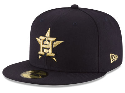 Houston Astros New Era MLB Team On Metallic 59FIFTY Cap