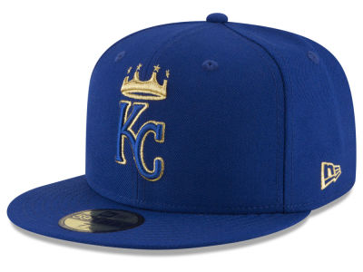 Kansas City Royals New Era MLB Team On Metallic 59FIFTY Cap