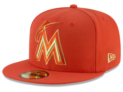 Miami Marlins New Era MLB Team On Metallic 59FIFTY Cap