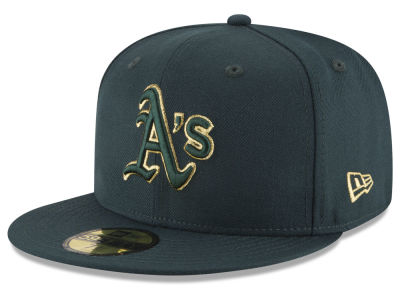 Oakland Athletics New Era MLB Team On Metallic 59FIFTY Cap