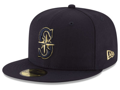 Seattle Mariners New Era MLB Team On Metallic 59FIFTY Cap