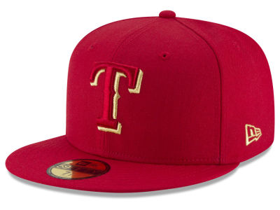 Texas Rangers New Era MLB Team On Metallic 59FIFTY Cap