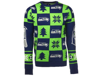 Seattle Seahawks NFL Men's Patches 2.0 Ugly Sweater