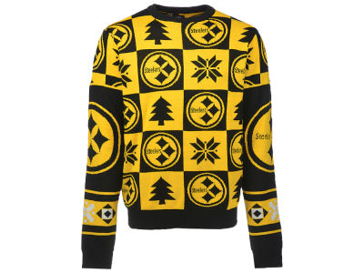 Pittsburgh Steelers NFL Men's Patches 2.0 Ugly Sweater
