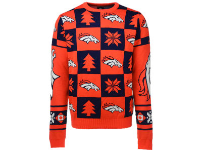 Denver Broncos NFL Men's Patches 2.0 Ugly Sweater