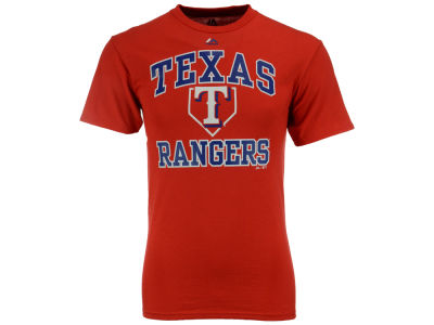 Texas Rangers Majestic MLB Men's Hit and Run T-Shirt