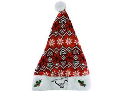 Calgary Stampeders Knit Sweater Santa Hat