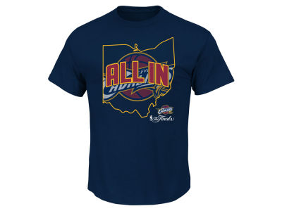 Cleveland Cavaliers Majestic NBA Men's 2016 All In State Outline T-Shirt