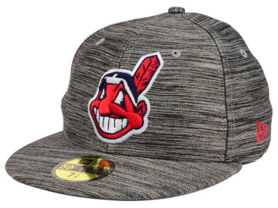 Cleveland Indians New Era MLB Blurred Trick 59FIFTY Cap