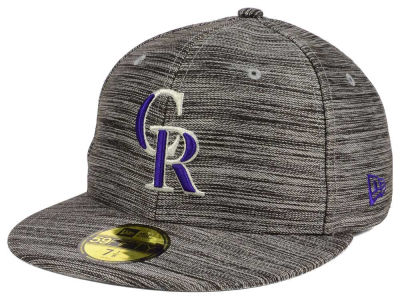 Colorado Rockies New Era MLB Blurred Trick 59FIFTY Cap