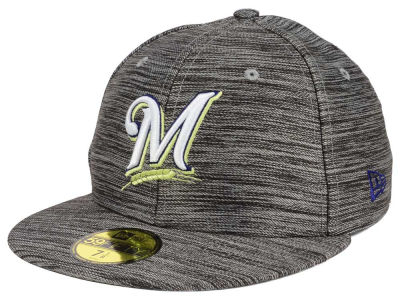 Milwaukee Brewers New Era MLB Blurred Trick 59FIFTY Cap