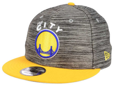 Golden State Warriors New Era NBA HWC Blurred Trick 9FIFTY Snapback Cap