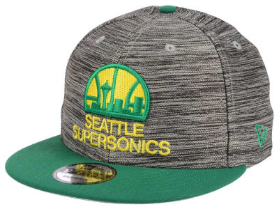 Seattle SuperSonics New Era NBA HWC Blurred Trick 9FIFTY Snapback Cap
