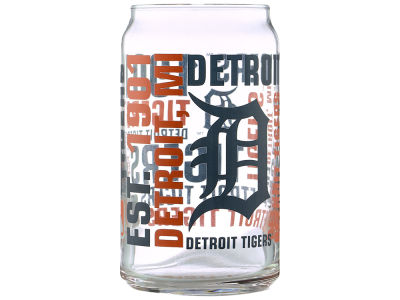 Detroit Tigers Spirit Glass Can - 16oz