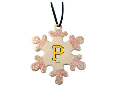 Pittsburgh Pirates Glitter Snowflake Ornament