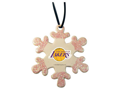 Los Angeles Lakers Glitter Snowflake Ornament