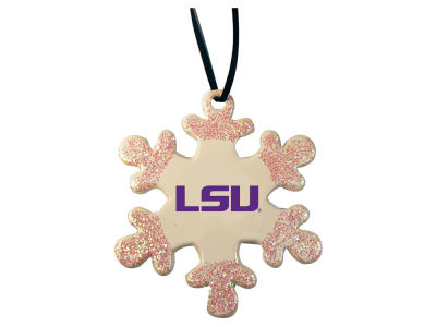 LSU Tigers Glitter Snowflake Ornament