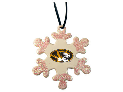 Missouri Tigers Glitter Snowflake Ornament