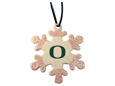 Oregon Ducks Glitter Snowflake Ornament