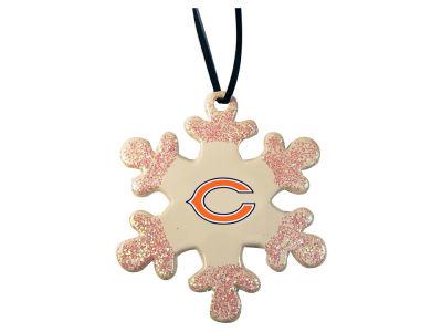 Chicago Bears Glitter Snowflake Ornament