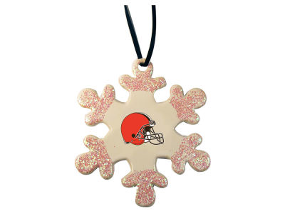 Cleveland Browns Glitter Snowflake Ornament