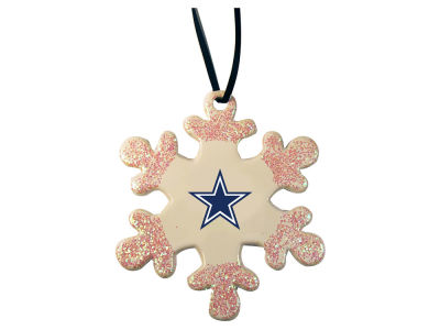 Dallas Cowboys Glitter Snowflake Ornament