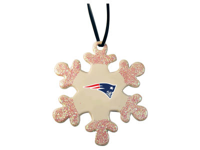 New England Patriots Glitter Snowflake Ornament