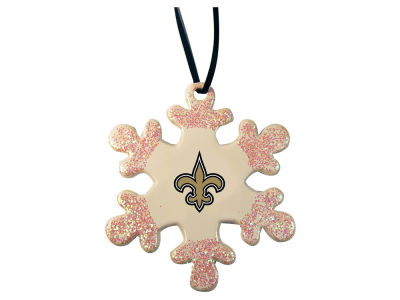 New Orleans Saints Glitter Snowflake Ornament