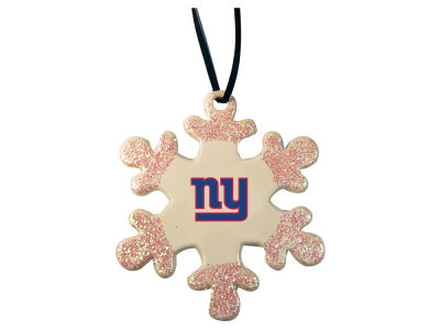 New York Giants Glitter Snowflake Ornament