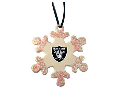Oakland Raiders Glitter Snowflake Ornament