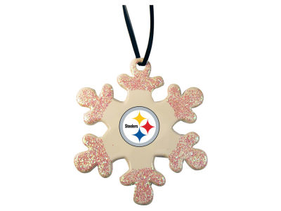 Pittsburgh Steelers Glitter Snowflake Ornament