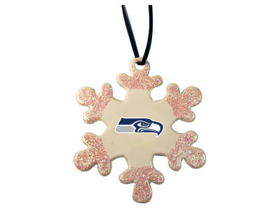 Seattle Seahawks Glitter Snowflake Ornament